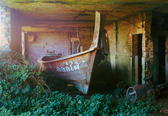 Final Destination (The_Random_Photographer) Tags: agfarecord boat thailongtail shed cementmixer film filmisnotdead kodakektar 6x9 mediumformat folder