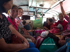 Women Sitting In a Jeepney On The Way to Maligcong, Mountain Province, Philippines (deemixx) Tags: jeepney passengers travelers mountainprovince luzon philippines
