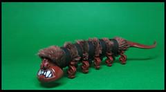 Banded Hairypillar (Karf Oohlu) Tags: lego moc fantasy caterpillar hairycaterpillar