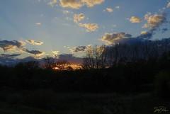 Sunset off the Deck, 10/17/2018 (mrose425) Tags: outdoors nature landscape clouds purple orange yellow blue amateur backyard sunset colors