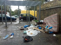 17th October 2018 (Martin B Tottenham) Tags: carbunclepassage tottenham haringey londonn17 rubbish dumping trash detritus alley