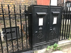 Dual black post boxes (Matt From London) Tags: postbox black cityoflondon