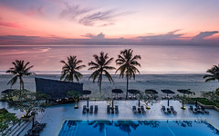 From a Balcony Far Away (Stoates-Findhorn) Tags: malaysia beach sunrise kuantan regency dawn 2018 telukcempedak palmtree hyatt southchinasea pahang