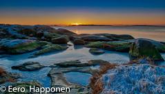 An other cold sun set in Porkka penisula (Eero Happonen) Tags: afsnikkordx1685mm3556gedvr nikond300 porkkala suomenlahti auringonlasku jää meri merimaisema rantakallio talvi tammikuu tammikuu2009