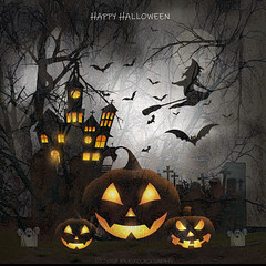 Halloween (Rollingstone1) Tags: halloween samhain witch festival haunted house broomstick gravestones trees pumpkin face dark celtic tradition music bat ghost art artwork