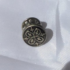 Vintage Celtic Button Brooch, Pin by SilverSkyByJanet (janetdmorris) Tags: etsy crafts shopping vintage celtic button brooch pin by silverskybyjanet
