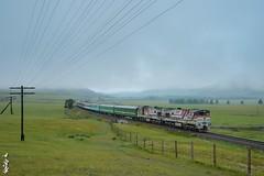 Train No:275. Zamyin uud -Ulaanbaatar. (N.Batkhurel) Tags: season autumn locomotive landscape passengertrain railway railfan 1520 trains trainspotting mongolia monrailpic 2zagal ngc nikon nikondf nikkor 24120mm