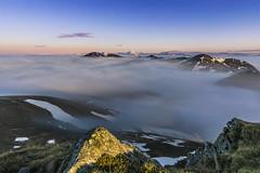 Sea of White (manuel.thaler) Tags: idyllic horizon mountain range scenics rocky peak outdoors sky clouds cloud mountains beautiful sunrise falkert carinthia austria nockberge