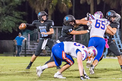 "PVHS v. Bolles '18-124 (mark.calvin33) Tags: football field sport ball ""high school"" ""ponte vedra high pvhs block tackle rush run pass catch receiver blocker ""running back"" quarterback fumble completion reception hike pitch snap ""friday night lights"" fans stands kick ""end zone"" ""nikon d7100"" 2018 win athletics athletes ""night photography"" ""sharks football"""
