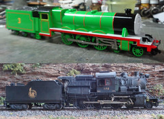 before and after (ecpeters15) Tags: central railroad new jersey t32 460 camelback camel back steam locomotive train trains ho scale kitbash kit bash scratch built build thomas friends bachmann styrene