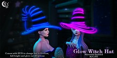*NW* Glow Witch Hat (NeverWish) Tags: salem neverwish nw witch glow neon second life