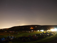 Starlit bikers under canvas for rally at Marsden Cricket Club, Hemplow. (kyliepics) Tags: olympus e520 evolt520 olympuszuikodigital1122mmf2835 addedtogroups