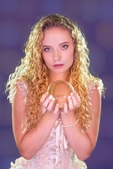 Lacy Crystal Ball 1345 C (jim.choate59) Tags: lacy jchoate on1pics crystalball magic fairytale portrait