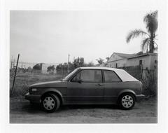 Chula Vista, CA (moominsean) Tags: polaroid 190 instant fuji fp3000b california chulavista sandiego southwest morning fog vw volkswagen rabbit cabriolet