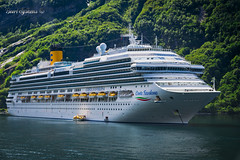 Make way (Geert E) Tags: boat ship cruiser cruise fjord norway costa favolosa