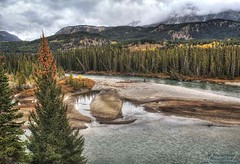 The Bow River at Castle Junction in Alberta Canada (PhotosToArtByMike) Tags: castlejunction bowriver banff banffnationalpark albertahighway1 canadianrockies albertacanada mountain mountains