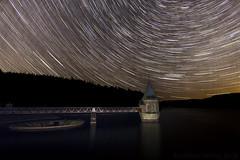 Pontsticill under the stars (Wizmatt) Tags: sky night pontsticill reservour reservoir brecon beacons national park wales cymru startrails star trail starstax composite light painting