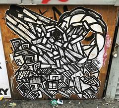 Capricorn by Dede Bandaid (wiredforlego) Tags: graffiti streetart urbanart eastvillage manhattan newyork nyc pasteup wheatpaste illegalart dedebandaid zodiac ny