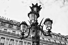 Architecture Details (stephaneblaisphoto) Tags: angel architecture art craft building exterior built structure creativity day electric lamp history human representation lighting equipment low angle view nature no people outdoors sculpture sky street light past bw blackandwhite monochrome