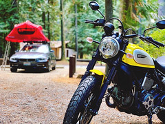 180924 Riley Creek Campsite (Fob) Tags: rileycreekrecreationarea id travel trip roadtrip september 2018 motorcycle ducati scrambler ducatiscrambler camping