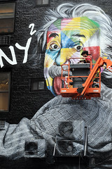 8th & 21st Street , NYC,       SAM_5160 (waitingfortrain) Tags: einstein graffiti grafartist kobra chelseanyc streetart nyc building mural