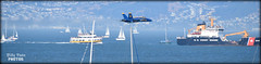 The Blue Angels Fleet Week San Francisco 2018 (billypoonphotos) Tags: sneak pass flyby fleet week navy blue angels jets f18 hornet flying united states squadron bay area billypoon billypoonphotos california media news nikon photo photographer photography picture san francisco photos outdoor d5500 nikkor 55300mm 55300 mm airplane sky aircraft jet trail lead solo boat sea water ocean ship 2018