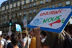 Climate change protesters march in Paris streets (Jeanne Menjoulet) Tags: climat change protesters manif marche manifestation environnement climate écologie
