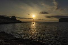 Xlendi Sunset (CraDorPhoto) Tags: canon5dsr sunset sun waterscape sea mediterranean landscape cliffs tower nature outdoors xlendi gozo malta