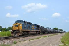 CSXT 7734 GE C40-8W (Trucks, Buses, & Trains by granitefan713) Tags: train locomotive railroad railfan csx freighttrain csxt ge generalelectric gelocomotive gec408w ged840cw dash8 mixedfreight manifest
