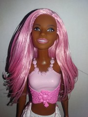 Pastel Jewel Mermaid (Just a Nobody) Tags: mermaid barbie african american aa doll fashiondoll mattel gem juwel pastel pink variant dreamtopia rainbow cove
