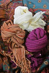 the Winter is coming... (green_lover (I wait for your COMMENTS!)) Tags: scarf clothes colours knot smileonsaturday three shop fabric thechallengefactory
