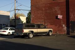 Dodge (Curtis Gregory Perry) Tags: woodbury oregon dodge truck pickup parking lot red brick building nikon d810 automóvil coche carro vehículo مركبة veículo fahrzeug automobil