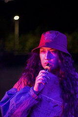 #smoke #eyes #smoking #girl #women #woman #pretty #nice #beautiful #cool #great #chile #hat #colors #neon #neonlights #highlights #neoncolors #purple #blue #red #canon #canont6 (slovenacastro1) Tags: smoke eyes smoking girl women woman pretty nice beautiful cool great chile hat colors neon neonlights highlights neoncolors purple blue red canon canont6