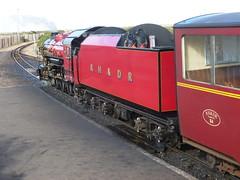"4-6-2 No 9 ""Winston Churchill"" at Dungeness (SRDemus) Tags: steamtrain steamengine winstonchurchill 9 462pacific 462 romneymarsh dungeness dungenessstation romneyhytheanddymchurchrailway rhdr"
