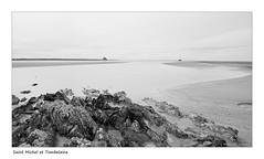 Baie du Mont Saint Michel (Bruno-photos2013) Tags: brunolandry baie saint michel rochers manche maréebasse normandie noiretblanc blackenwhite paysagemaritime landscape mont rocs sable mer