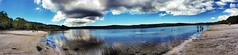 Brown Lake, Stradbroke Island (andrewcaswell) Tags: stradbroke island queensland australia panorama pano landscapes hdr water clouds reflection