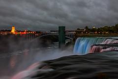 Niagara Lights (Amy Hudechek Photography) Tags: niagarafalls night light show waterfalls newyork evening dusk american side falls amyhudechek autumn fall