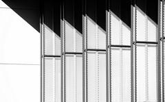 Contraste (Tonton Gilles) Tags: graphisme contraste contrasté blanc noir et gris lignes volets ombres zen alençon normandie quartier de perseigne
