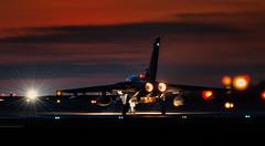 Single GR4 Departing at Dusk (1 of 1) (markranger) Tags: tornado gr4 raf marham fastjet sunset dusk night reheat
