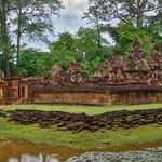 Banteay Srei temple ruins in Angkor Archeological Park near Siem Reap, Cambodia thumbnail