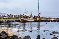 Old boat in Hauganes (Einar Schioth) Tags: oldboat boat sky sea sigma sigma2470 day canon clouds cloud coast shore harbour vividstriking nationalgeographic ngc nature hauganes landscape photo picture outdoor iceland ísland einarschioth