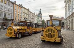Les petits ''trains'' de Lviv (Vincent Rowell) Tags: cathedraloftheassumption belltower rynoksquare marketsquare ukraine2018 ukraine lviv tourtrains sigma816mm hdr photoshopped raw