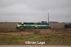 IARR3802sw (eslade4) Tags: iarr iowariverrailroad ackley iarr3802 gp38 iarr3004 gp30 exiac exmstl excnw exarzc tankcars