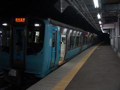 12. 青い森703 (筒井駅) (しまむー) Tags: sony cybershot dscf828 f828 carl zeiss variosonnar t endless train trip holiday pass ホリデーパス 限界