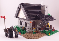 Blacksmith (cubeous) Tags: lego moc afol castle blacksmith kingdom work knight kowal diorama interior exterior house building
