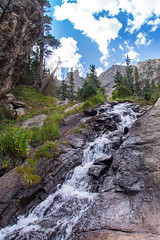 Mountain Stream (Davien Orion) Tags: explore beautiful nature water waterfalls waterfall trees mountains rocks sky clouds colorado rockymountains rockymtnationalpark sonya77 sony flickrbest ngc