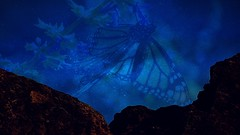 Cosmic Butterfly (Iforce) Tags: butterfly wallpaper landscape space cosmos stars sky art digital design composition insect mountain