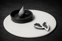 still life with figs (mario.reinisch81) Tags: myinterpretationoflight bw bnw blackandwhitephoto bnwminimal stillleben stilllife stillife minimalove