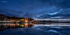 Blakeney Quay - flooded (jerry_lake) Tags: blakeneyhotel blakeneyquay d750 nikon1424mmf28 norfolk oct2018 bluehour hightide lighttrails reflections