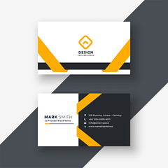 elegant yellow business card template (aktharuzzaman9334) Tags: business card design vector template corporate professional elegant modern creative visiting brand identity id layout contact graphic abstract office print
